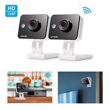 Zmodo - Mini WiFi Indoor Cameras with Two-Way Audio Connects Wirelessly (2-Pack)