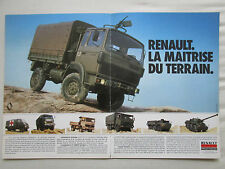 9/1984 PUB RENAULT TRM 2000 4000 10000 CAMION MILITAIRE MILITARY TRUCK FRENCH AD