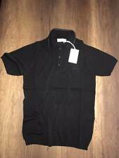 Knitwear Brioni Men Gray Stitching Collar Polo T-Shirt New Size S color Black