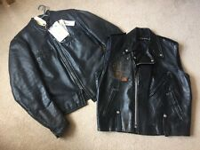 harley davidson leather jacket aka545 NEW 1st Edition 75&76/300 Unique HARLEY X2
