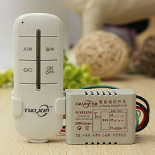 Wireless 1 Channel 220V Lamp Remote Control Switch Transmitter