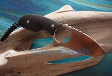 "Real Steel 127 Fixed Neck Knife 2.7"" Blade 5"" Overall Black D2 Kydex Sheath BLK"