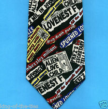 FREE P&P* 100% Silk - Tabloid Newspaper Alien Love Child Novelty Fun Tie   #2395