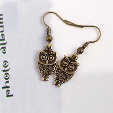Funky Antique Bronze Little Owl Earring, Fashion Jewellery