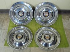 """50 51 52 53 Oldsmobile HUBCAPS 15"""" Set 4 Wheel Covers Olds 1950 1951 1952 1953"""