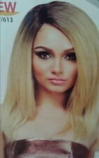 "BLONDE HUMAN HAIR BLEND ""LACE FRONT"" WIG"