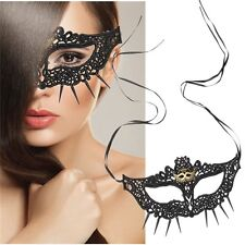 Black Lace Cut out Masquerade mask,Sexy lady Vampire,Fancy dress party,Cosplay.
