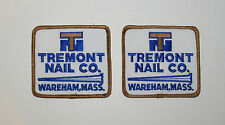 Lot of 2 Vintage Tremont Nail Co. Wareham MA Hardware Store Patch New NOS 1970s