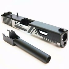 AS382a BELL Custom Slide A Type for Marui 17 G17 Airsoft GBB ( BLACK Barrel)