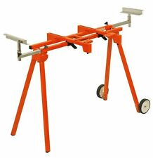 "Portamate 300 Lb Folding Miter Saw Stand w/ 6"" Wheels! Sawhorse Chop Contractor"