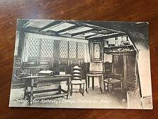 Vintage Postcard Interior, Ann Hathaway's Cottage, Strafford Avon