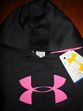 NWT Under Armour Cold Gear Big Logo Sweatshirt Hoodie Girls Youth Size LG CUTE!