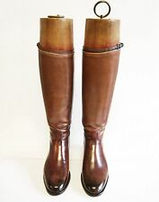 Women's Custom Bespoke Leather Riding Boots, EU 41, US 9.5, EXCELLENT CONDITION
