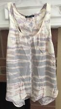 Gypsy 05 Global Village Women's Medium Tie Dye Silk Tank Top Blouse Racerback