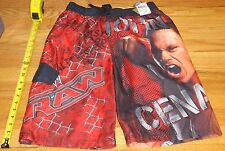 2012 WWF WWE John Cena Wrestling Red Raw Childrens Swimming trunks XL 14/16 New