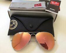 Authentic Ray-Ban Aviator 3025 019/Z2 62mm Pink Mirror Lens Silver Fram Sunglass