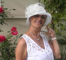 Damenhut Anlasshut SEEBERGER Glockenhut Cremeweiß/ivory Hochzeit Anlasshüte