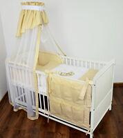 Babybett Kinderbett Juniorbett 2 in1 Umbaubar 140x70 Bettwäsche Bettset Neu