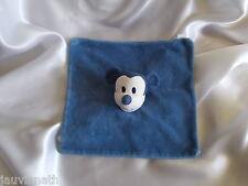 Doudou souris Mickey, bleu, grelot, Disney, Carrefour