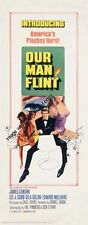 Our Man Flint Insert Movie Poster 14x36 Replica