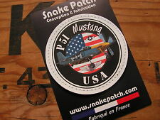 "Patch Velcro PVC "" P51 MUSTANG "" USAF ww2 WARBIRD US AIR FORCE Avion Pilote"