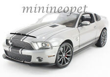 COLLECTIBLES 365 2011 FORD SHELBY GT 500 SUPER SNAKE 1/18 GREY w BLACK STRIPES
