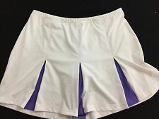 Bolle SKORT skirt w shorts size L large white with purple trim Tennis
