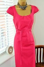 Gorgeous Laura Ashley Pink Belted Flattering Dress Size 10