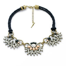 Vintage Glass Crystal Morningtide Convertible Collar Statement Necklace Jewelry