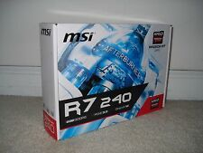 MSI Radeon R7 240 2GD5 2GB 128-bit GDDR5 PCI-E 3.0 x16 HDCP Ready Video Card NEW
