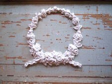 SHABBY n CHIC FURNITURE APPLIQUES * LARGE FLORAL WREATH * FLEXIBLE * PAINTABLE