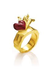 Flammendes Herz Ring Gr 54 Drachenfels Schmuck D IN 11 Flameninferno Silber verg