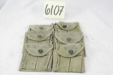 WW2 US KHAKI BUTT STOCK CARBINE POUCHES WITH US STAMPINGS