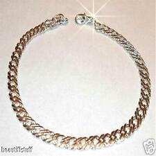 Men's Sterling Silver sep Mesh Thick Dom Bracelet
