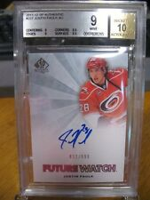 JUSTIN FAULK 2011-12 Upper Deck SP Authentic Future Watch Rookie Auto BGS 9 w/10