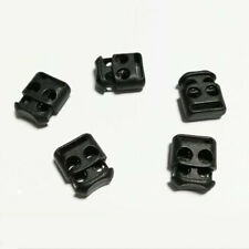 10PCS Shoe Lace Shoelace Buckle Rope Clamp Cord Lock Stopper Run Sports Black