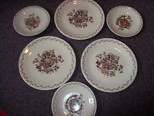 vintage Staffordshire OLD GRANITE made in England saucers and plates Johnson Bro