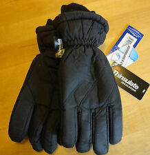 Boys or Girls Ski Gloves Black Waterproof Thinsulate Velcro sizes 4 5 6 7