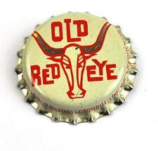Vintage Old Red Eye Soda Kronkorken USA 1950er Bottle caps Bulle große Hörner