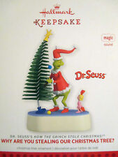 2013 WHY ARE YOU STEALING OUR CHRISTMAS TREE ? Hallmark  THE GRINCH Ornament