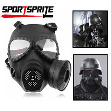 Airsoft Paintball WARGAME COSPLAY Gas Mask Protective Gear Anti-Fog Turbo Fan