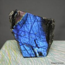 "3.94 "" 1-Side Polished Rainbow Labradorite Spectrolite Freeform Stone, Lbt400"