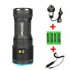 16000LM LCD 8X CREE XML T6 LED Flashlight Torch Hunting 4x18650+AC/Car Charger
