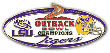 Official 2014 Outback Bowl Champions Pin LSU Tigers