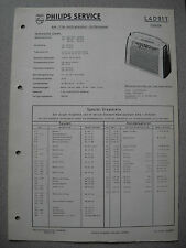 Philips L4D91T Colette Kofferradio Service  Manual Ausgabe 07/59