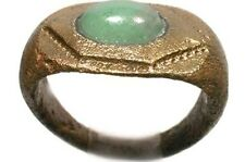 AD300 Ancient Roman Anatolia (Turkey) Ring Size 7½ + 19thC Antique 1½ct Jade Gem