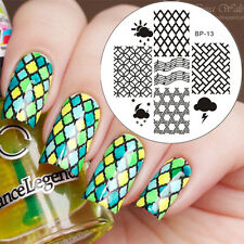 Grille Ongle Nail Art Stamping pochoir Template Image plaque BORN PRETTY 13