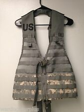 NEW U.S Army / ACU Digital  CAMO FLC Molle Vest Combat Carrier Tactical Load LBV
