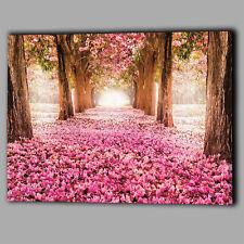 Rosa árboles Pétalos Tela A2 gran pared arte Foto Regalo Flor Hojas Paisaje