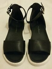 Bruno bordese womens leather sandals shoe Black Size uk 6, eu 39